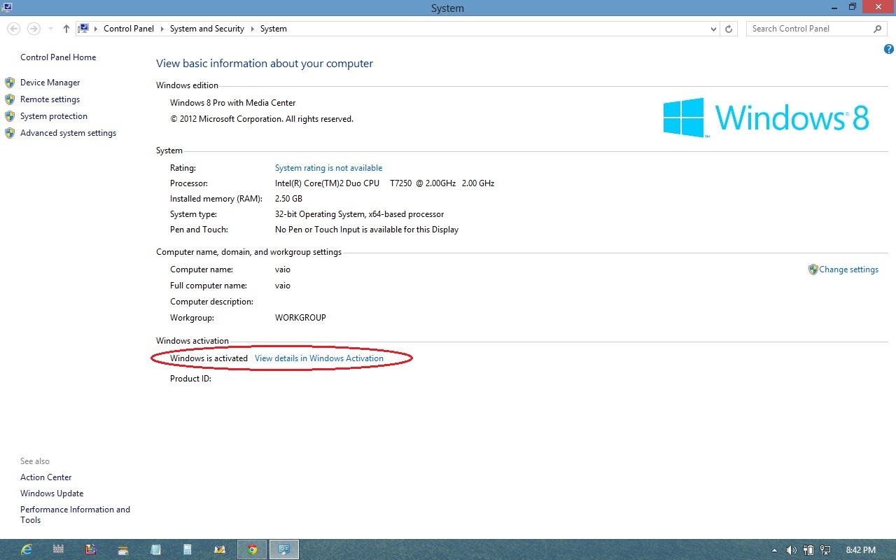 install windows 8 professional